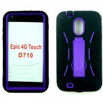 Wholesale Samsung Galaxy S2 / D710 Armor hybrid Case with Stand (Black-Purple)