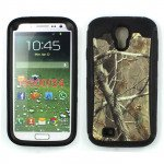 Samsung Galaxy S4 Camouflage Defender Case with Built-In Screen (Tree Black)