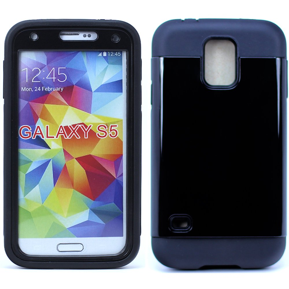 Wholesale Samsung Galaxy S5 Slim Defender With Screen Blue