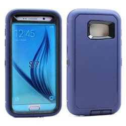 Galaxy S7 Premium Armor Defender Case (Navy Blue-Black)