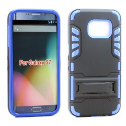 Samsung Galaxy S7 Hard Shield Hybrid Case (Blue)