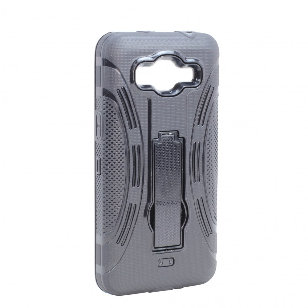 Wholesale Samsung Galaxy Grand Prime G530 Armor Hybrid Stand Case (Black)