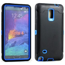 Samsung Galaxy Note 4 Armor Defender Case with Screen (Black Blue)