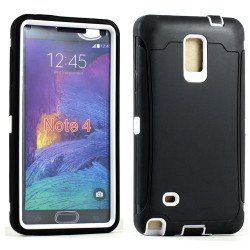 Samsung Galaxy Note 4 Armor Defender Case with Screen (Black White)