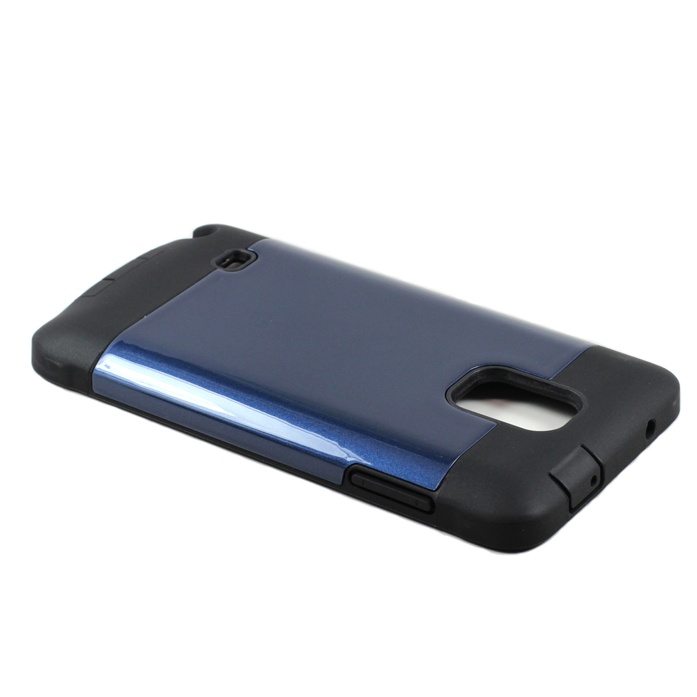 Wholesale Note 4 Slim Defender Case With Screen Navy Blue