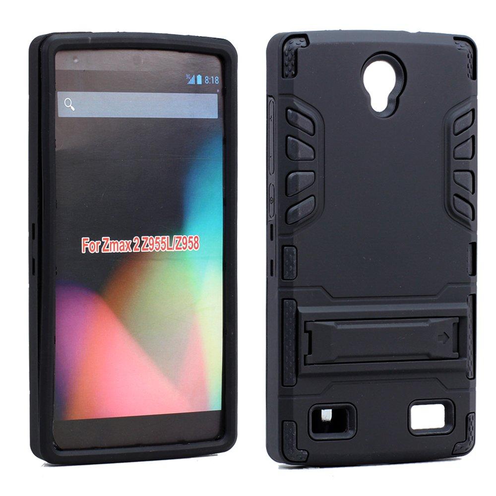 Wholesale Zte Zmax 2 Z958 Hard Shield Hybrid Case Black