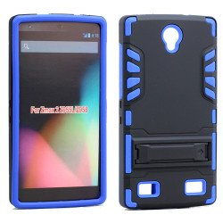 ZTE ZMAX 2 Z958 Hard Shield Hybrid Case (Blue)
