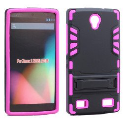 ZTE ZMAX 2 Z958 Hard Shield Hybrid Case (Hot Pink)