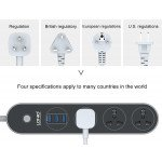 Wholesale Power Strip with 3 USB Port and 3 Outlet Socket Charging Station Surge Protector 10A and 5ft Cord