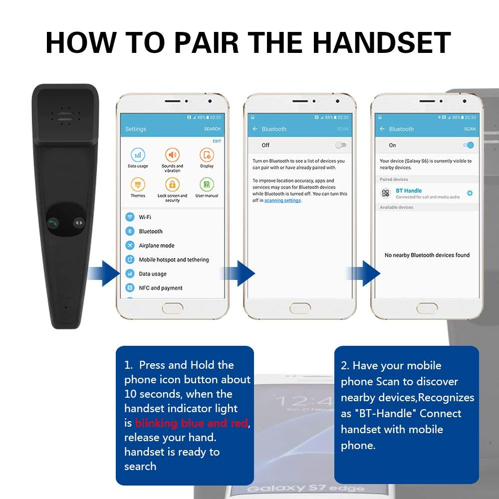 Wholesale Wireless Charger Pad with Bluetooth Handset for Phone