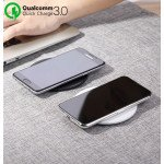 Wholesale Qualcomm 3.0 Quick Charge Ultra-Slim Wireless Charger for Qi Compatible Device (Black)