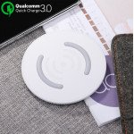 Wholesale Qualcomm 3.0 Quick Charge Ultra-Slim Wireless Charger for Qi Compatible Device (White)