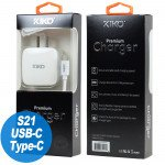 Wholesale USB Type C Dual Port Premium Wall Charger 2 in 1 - 2.1A  (Wall - White)