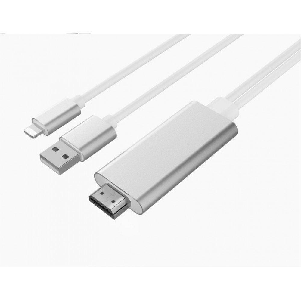 wholesale ios lightning to hdmi cable hd tv cable for iphone ipad silver. Black Bedroom Furniture Sets. Home Design Ideas