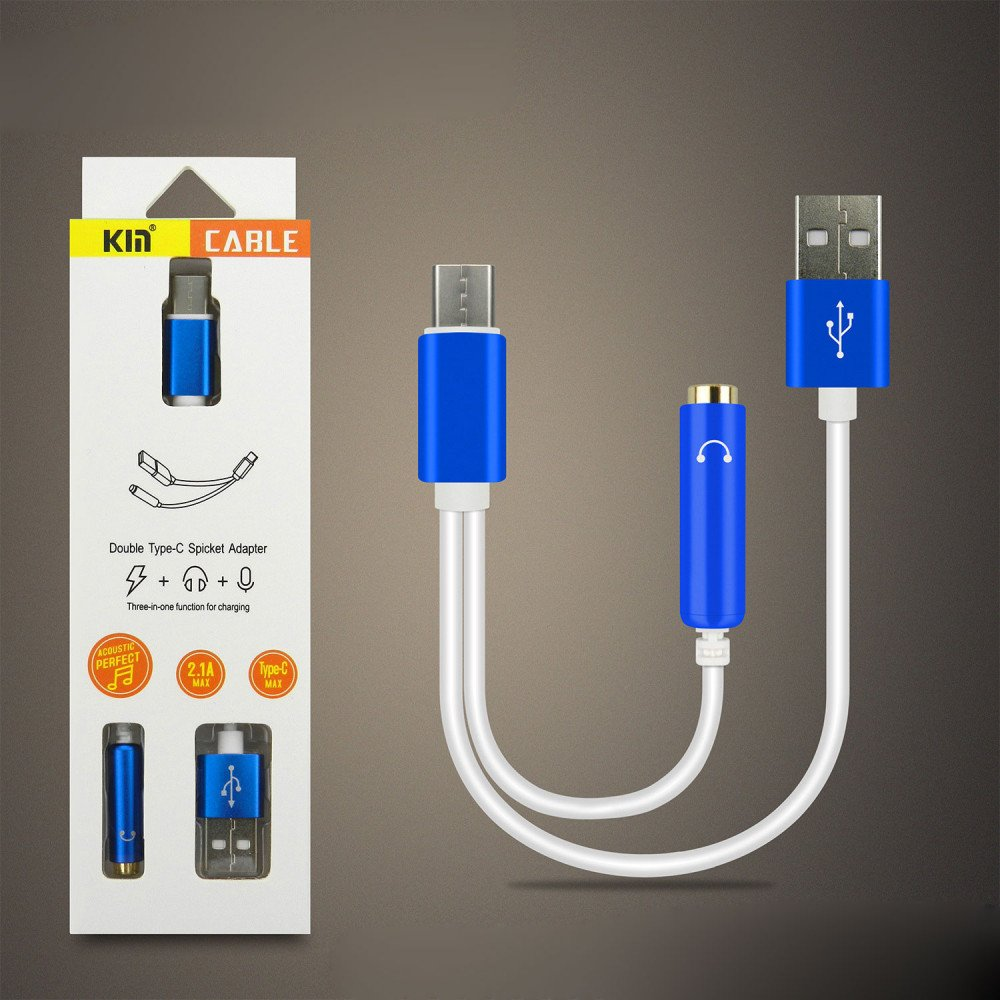 Wholesale Short Type-C USB Charging Cable And 3.5mm Jack