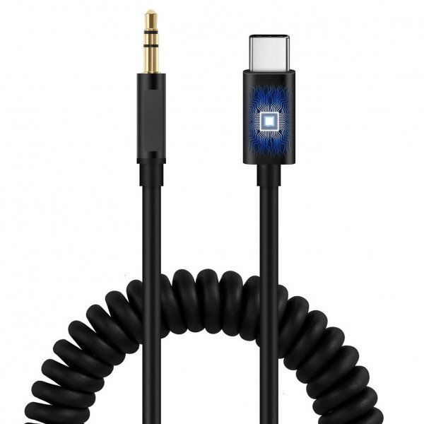 Wholesale USB-C Cable to 3.5mm Aux Auxiliary Cable for Headphone, Car Cord (Black)