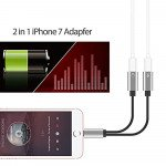 Wholesale New 2-in-1 Lightning iOS Splitter Adapter with Charge Port and Headphone Jack Compatible Up to IOS 12 (Red)