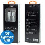 Wholesale iPhone IOS Lightning 2.1A Strong Heavy Duty Armor USB Cable 3 FT (White)