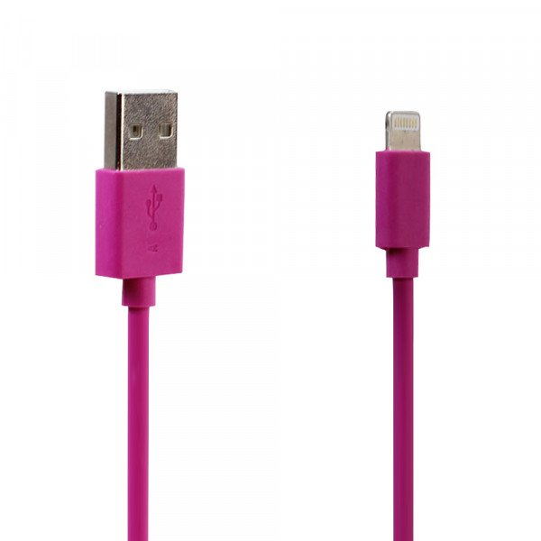 Wholesale IOS Lightning 2A USB Heavy Duty Cable 6 ft (Hot Pink)