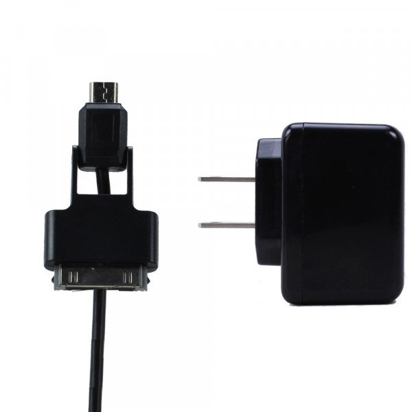 Wholesale iPhone & Micro USB V8V9 2 in 1 Power House Charger