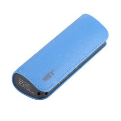 2600 mAh Ultra Compact Portable Charger External Battery Power Bank (Blue)