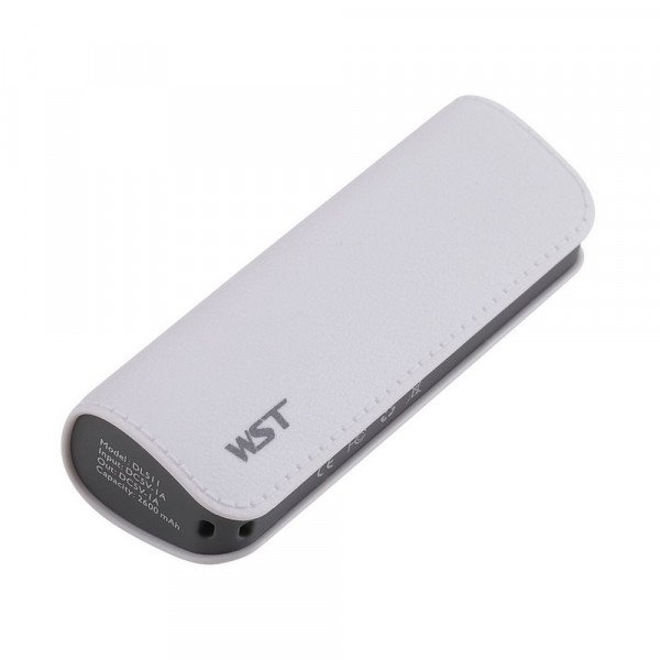 Wholesale 2600 mAh Ultra Compact Portable Charger External Battery Power Bank (White)