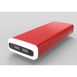 10000 mAh Flashlight LED Light Portable Charger External Battery Power Bank (Red)