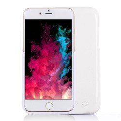 iPhone 8 / 7 / 6s / 6 Dual Portable Power Charging Cover 5000 mAh (White)