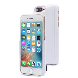 iPhone 8 Plus / 7 Plus / 6s Plus / 6 Plus Dual Portable Power Charging Cover 7200 mAh (White)