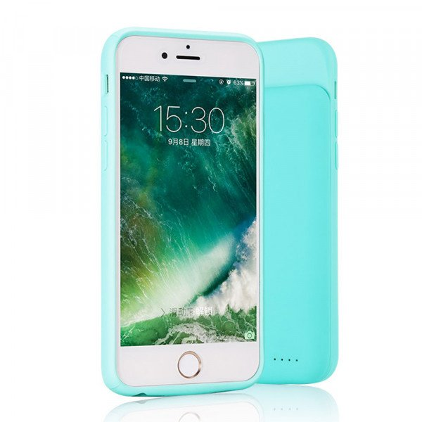 Wholesale iPhone 8 / 7 / 6s / 6 Portable Power Charging TPU Full Case 3000 mAh (Green)