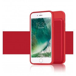 iPhone 8 / 7 / 6s / 6 Portable Power Charging TPU Full Case 3000 mAh (Red)