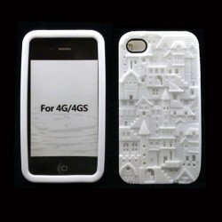 iPhone 4 4S 3D Castle  Case (White)