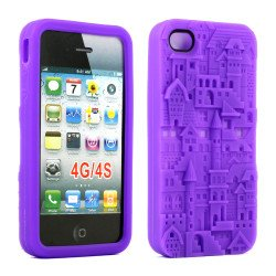 iPhone 4 4S 3D Castle Case  (Purple)