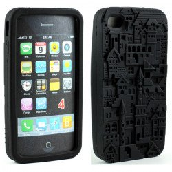 iPhone 4 4S 3D Castle  Case (Black)