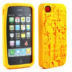 iPhone 4 4S 3D Castle Case (Yellow)