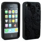 Wholesale iPhone 4 4S 3D Clock Work Case  (Black)