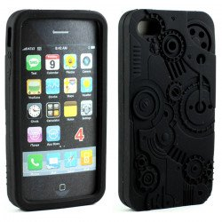 iPhone 4 4S 3D Clock Work Case  (Black)
