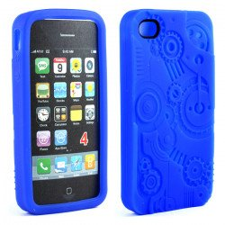 iPhone 4 4S 3D Clock Work Case (Blue)