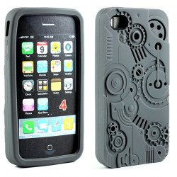 iPhone 4 4S 3D Clock Work Case (Gray)