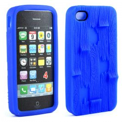 iPhone 4 4S 3D Plank Case (Blue)