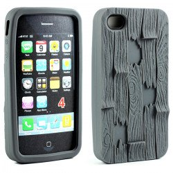 iPhone 4 4S 3D Plank Case (Gray)