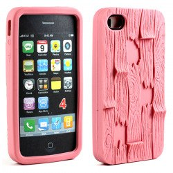 iPhone 4 4S 3D Plank Case (Pink)