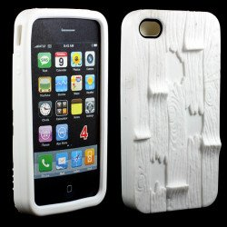 iPhone 4 4S 3D Plank Case (White)