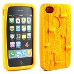 Wholesale iPhone 4 4S 3D Plank Case (Yellow)