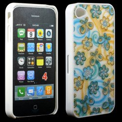 iPhone 4 4S Blue Butterfly Design Case