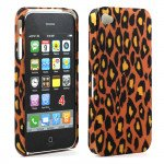 Wholesale Slim Design Case for iPhone 4S/4 (Brown Leopard)