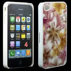 iPhone 4 4S Yellow Flower Slim Design Case
