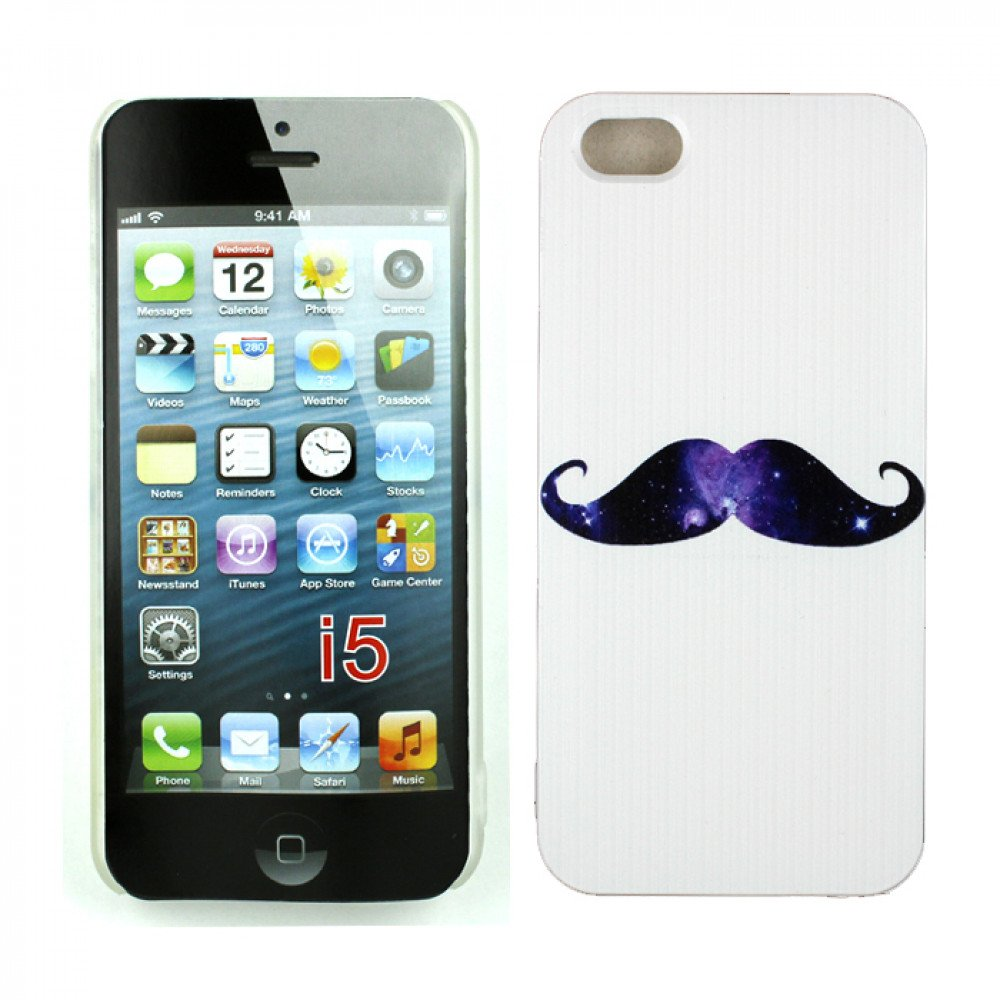 wholesale apple iphone 5 5s design case mustache. Black Bedroom Furniture Sets. Home Design Ideas