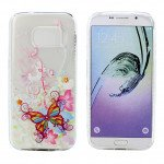 Wholesale Galaxy S7 Crystal Clear Soft Design Case (Butterfly Flower)