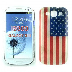 Samsung Galaxy S3 American Flag Design Case (Transparent)